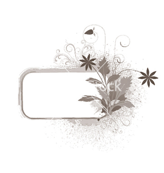 Free grunge floral frame with space for text vector - Kostenloses vector #249537