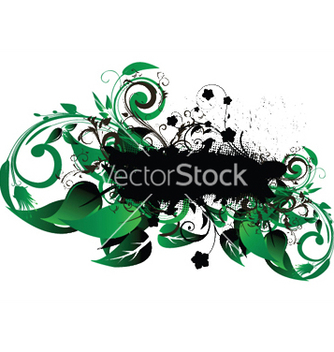 Free abstract spring floral frame with splash vector - vector #249547 gratis