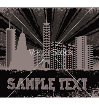 Free vintage city background vector - Free vector #249897