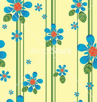 Free abstract seamless floral background vector - Kostenloses vector #249947