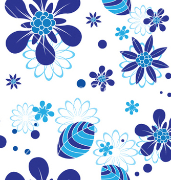 Free abstract seamless floral background vector - Kostenloses vector #250067