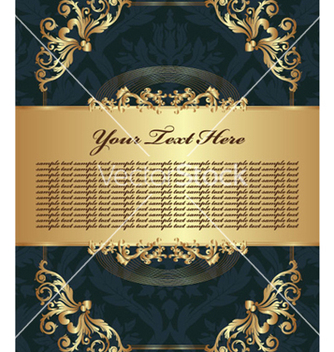 Free vintage gold floral background vector - vector gratuit #250447