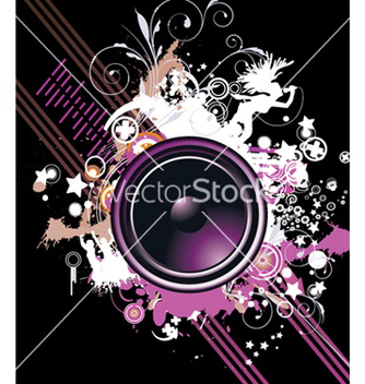 Free speaker with floral vector - Kostenloses vector #250677