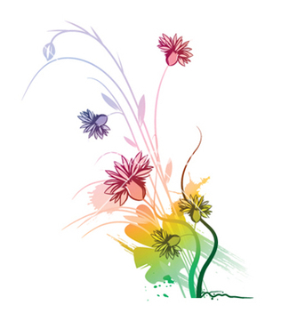 Free watercolor floral vector - vector gratuit #250717