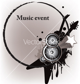 Free concert poster with speakers vector - Kostenloses vector #250757
