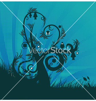 Free fantasy floral background vector - Free vector #250807