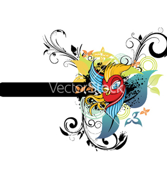 Free bird with floral vector - Kostenloses vector #250817