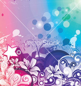 Free watercolor floral background vector - Free vector #250907