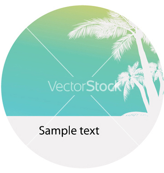 Free vintage summer background with palm trees vector - бесплатный vector #250977