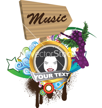 Free music emblem vector - Free vector #251027