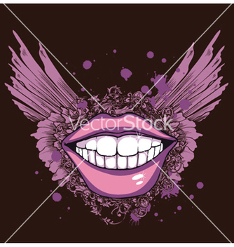 Free vintage tshirt design with mouth vector - Kostenloses vector #251037