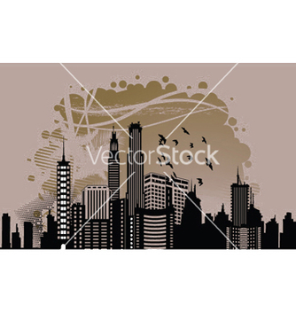 Free city with grunge vector - Kostenloses vector #251147