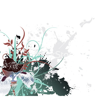 Free splash floral background vector - Kostenloses vector #251197