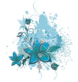 Free grunge background with floral vector - vector gratuit #251247