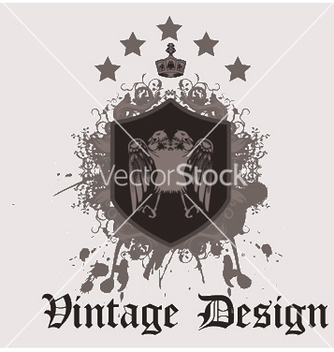Free vintage emblem with shield vector - Free vector #251327