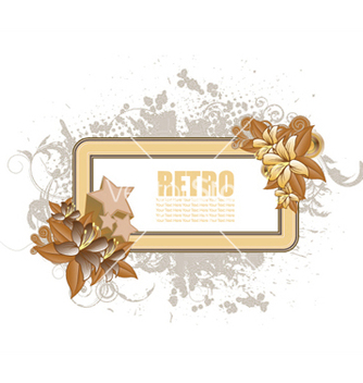 Free retro floral frame vector - Free vector #251497