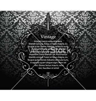 Free vintage silver floral frame vector - Free vector #251537