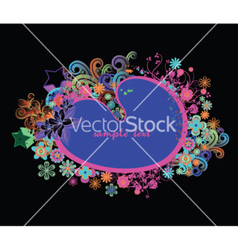 Free abstract floral frame vector - Free vector #251627