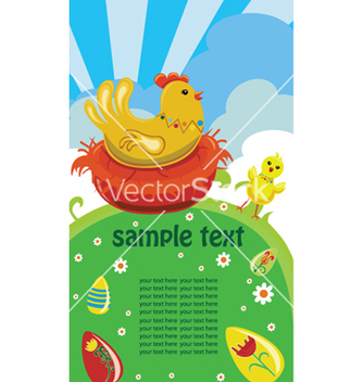 Free easter background with hen vector - Free vector #251757