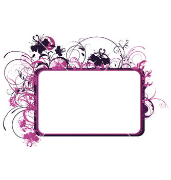 Free floral frame vector - Free vector #251847