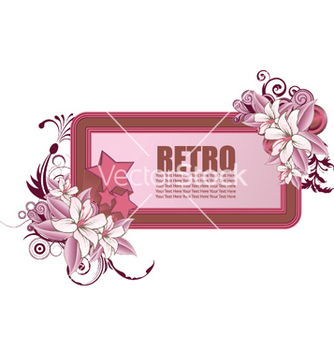 Free retro frame with floral and stars vector - Kostenloses vector #251937