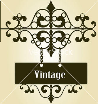 Free wrought iron sign vector - Free vector #252017