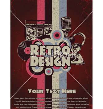 Free retro music poster vector - бесплатный vector #252367