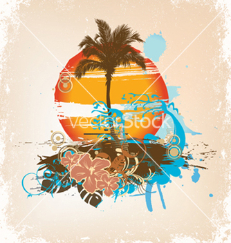 Free grunge summer background vector - Free vector #252387