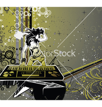 Free girl with organ vector - Free vector #252527