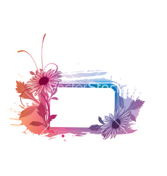 Free watercolor floral frame vector - бесплатный vector #252697