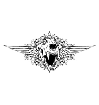 Free vintage emblem with animal skull vector - Free vector #252767
