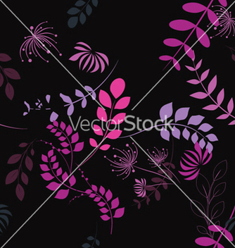 Free abstract seamless floral background vector - Kostenloses vector #252837