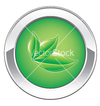 Free eco web button with leaves vector - Free vector #252857