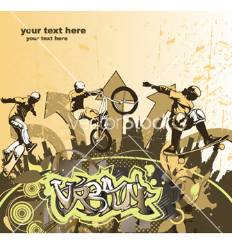 Free skater and biker vector - Free vector #252937
