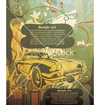 Free vintage background with car vector - vector gratuit #253097