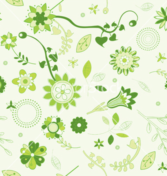 Free seamless floral background vector - Free vector #253127