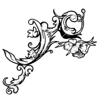 Free baroque floral element vector - Free vector #253137