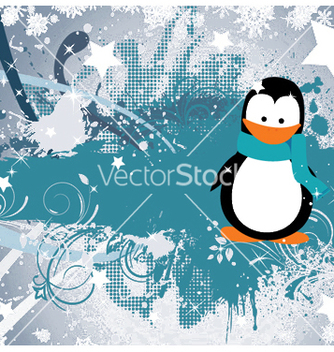 Free winter greeting card vector - Free vector #253357