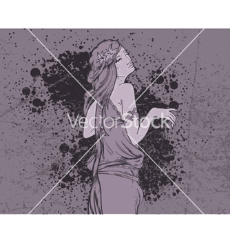 Free grunge wallpaper with lady vector - vector #253457 gratis