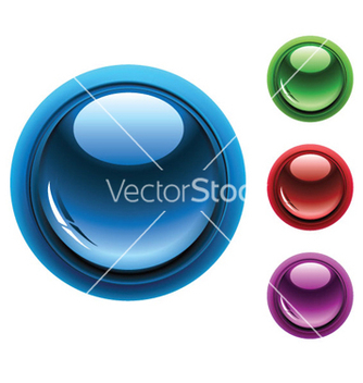 Free glossy buttons set vector - Free vector #253467
