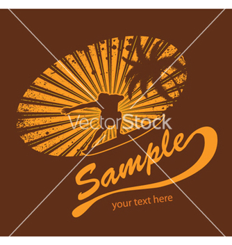 Free summer tshirt design with surfer vector - бесплатный vector #253497
