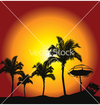 Free summer background with palm trees vector - Free vector #253517