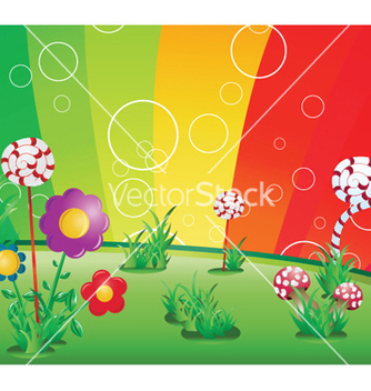 Free spring floral background with rainbow vector - vector gratuit #253537