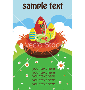 Free easter background with eggs vector - Free vector #253547