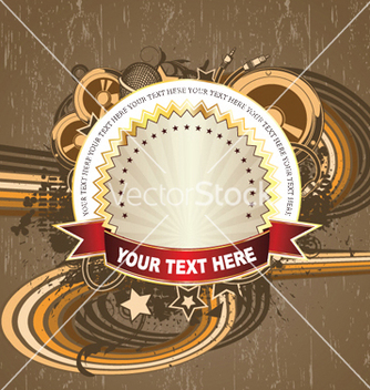 Free label with music background vector - Kostenloses vector #253577