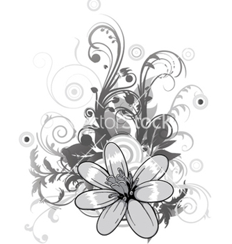 Free abstract flower with circles vector - Free vector #253897