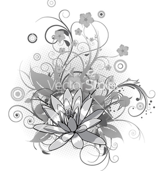 Free abstract flower with circles vector - vector #253917 gratis