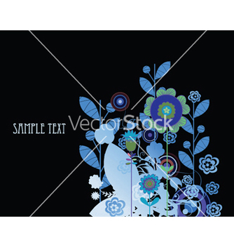 Free abstract background with floral vector - vector #253927 gratis