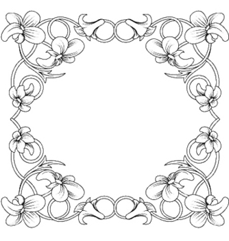 Free floral frame vector - Free vector #253957