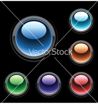 Free glossy buttons set vector - бесплатный vector #254047